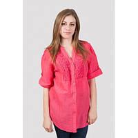 Туника рубашка женская с кружевом для полных , фото 1