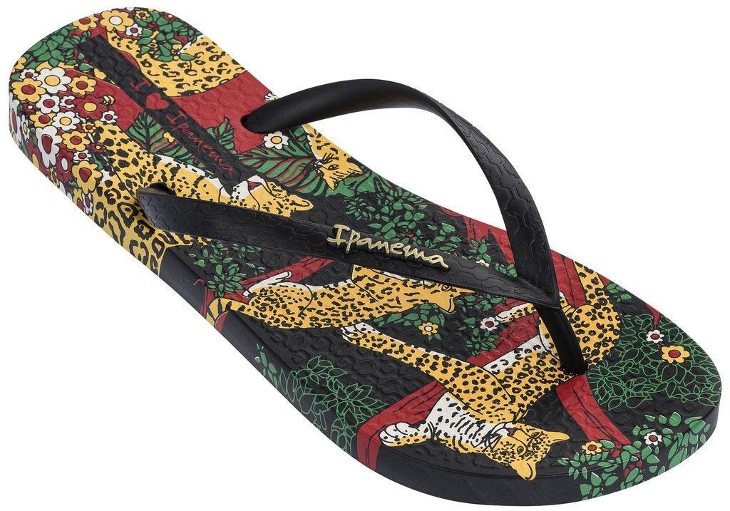Оригинал Вьетнамки Женские 82684-22577 Ipanema Summer II woman slipper black/green/yellow
