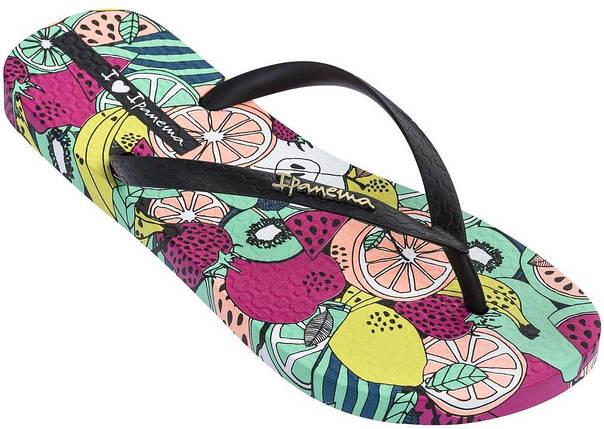 Оригинал Вьетнамки Женские 82684-21675 Ipanema Summer II woman slipper black/green, фото 2