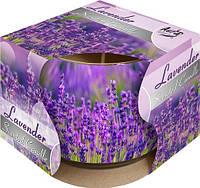 Свеча ароматическая в стекле Bispol Лаванда 7 см (sn71s-09)