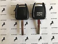 Автоключ для OPEL Vectra, Astra, Zafira (Опель Вектра, Астра, Зафира) 2- кнопки, чип ID46, 433 MHz,лезвие HU43