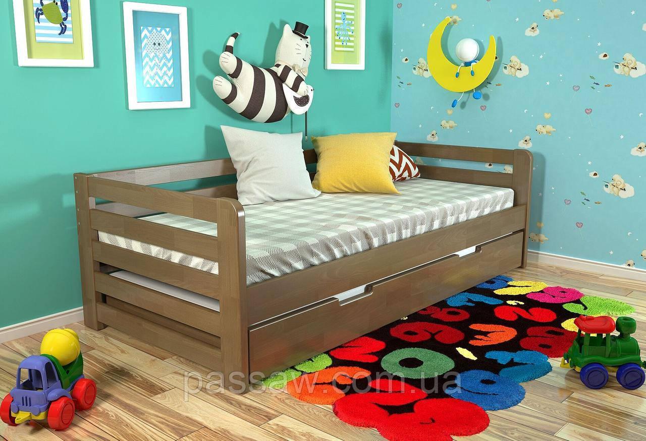 """Кровать деревянная """"Немо"""" 0,8*1,9 бук"""