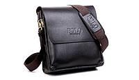 Мужская сумка Polo Videng 21*23*7 коричневый цвет