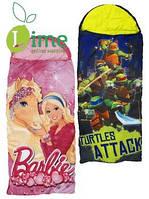 Спальные мешки Turtle/Smurfs/Barbie для детей