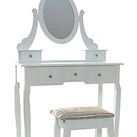Туалетный столик Клара белый с зеркалом, фото 1