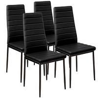 Набор кухонной мебели из 4 стульев черные эко