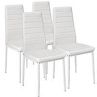 Набор кухонной мебели из 4 стульев белые эко