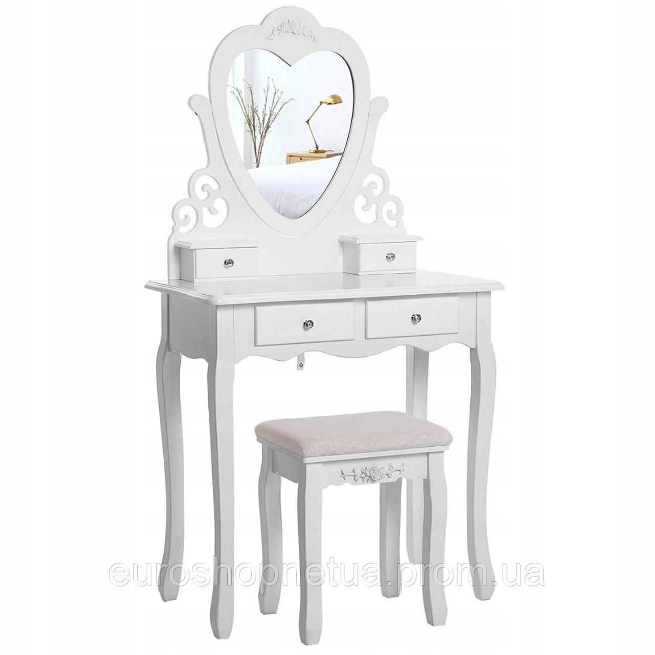 Туалетний столик Космо белый с зеркалом
