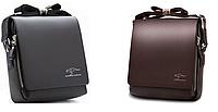 Барсетка чоловіча сумка через плече Kangaroo kingdom коричневий колір, фото 1