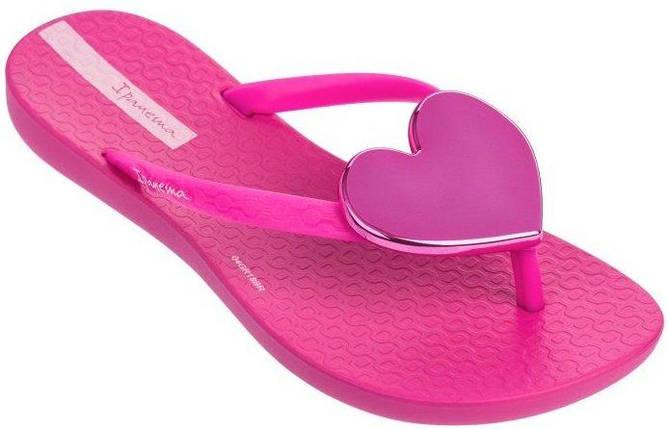 Оригинал Вьетнамки Детские для девочки 82598-20197 Ipanema Maxi Fashion Kids slipper pink/pink 2019, фото 2