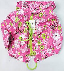Демисезонная детская куртка ветровка для девочки розовая 1-2 года