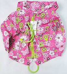 Демисезонная детская куртка ветровка для девочки розовая 2-3 года