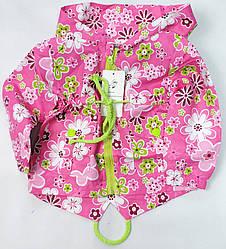 Демисезонная детская куртка ветровка для девочки розовая 3-4 года