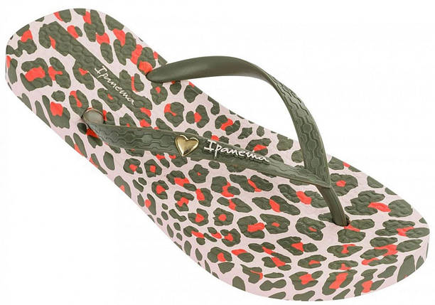 Оригинал Вьетнамки Женские 82594-20737 Ipanema Animal Print III woman slipper beige/green, фото 2