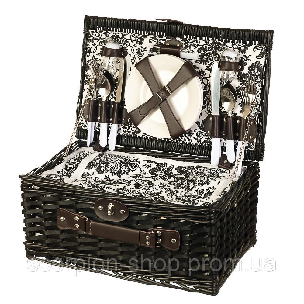 Корзина для пикника на 4 персоны + сумка-холодильник (024PPN)
