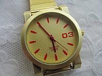 """Часы женские """"Золото"""" красные"""