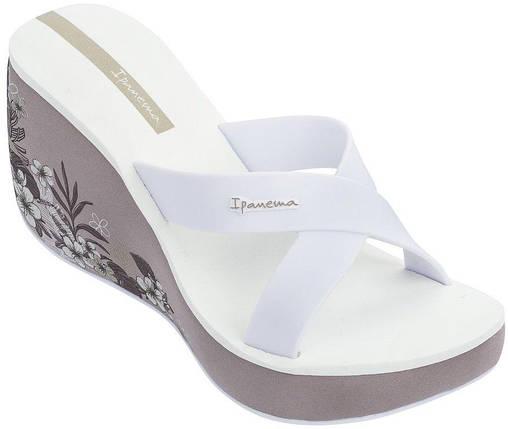 Оригинал Вьетнамки Женские на платформе 82534-20700 Ipanema Lipstick Straps V woman slipper pink/white, фото 2
