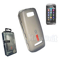 Capdase. Nokia Asha 305. Силиконовый чехол (+пленка) Gray