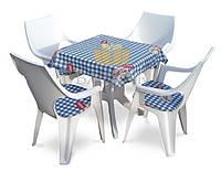 Садові меблі набір DANTE 4 + 1 пластиковий, фото 1