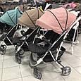 Легкая Прогулочная коляска CARRELLO Gloria +дождевик Coral Pink, фото 7