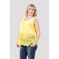 Женская туника блузка свободного кроя без рукавов