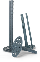 Дюбель тарельчатый 10х160 для крепление термоизоляционных материалов с пластиковым гвоздем
