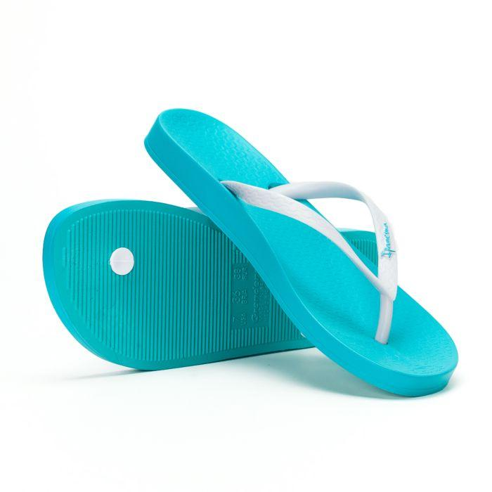 Оригинал Вьетнамки Женские 81030-20247 Ipanema Anatomica Tan woman slipper blue/white 2019