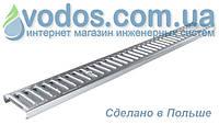 Решетка стальная оцинкованная A15 для лотков водоотводных ZMM Maxpol 1700