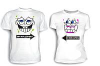 Парные футболки Она моя и Он мой