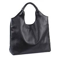 Небольшая женская кожаная сумка. Мод.15 чёрная