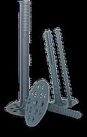 Дюбель тарельчатый 10х180 для крепление термоизоляционных материалов с пластиковым гвоздем