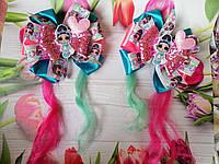 """Резиночки для девочек """"Бантики Лол: яркие"""",с вьющимися прядками, фото 1"""