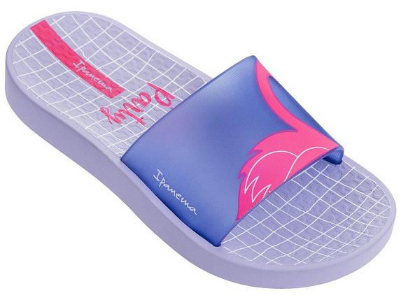 Оригинал Шлепанцы Детские для девочки 26325-22898 Ipanema Urban Slide Kids slipper violet/blue 2019, фото 2