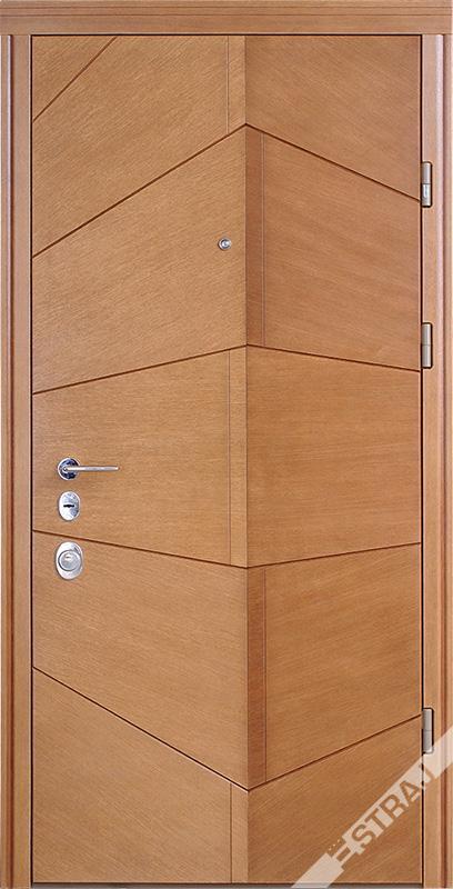 Двери квартирные, STRAJ, модель Angle, Prestige, коробка 145мм, MOTTURA 54.797 MATIC, девиатор