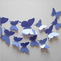 "Наклейка на стену ""12 шт. 3D бабочки наклейки"""