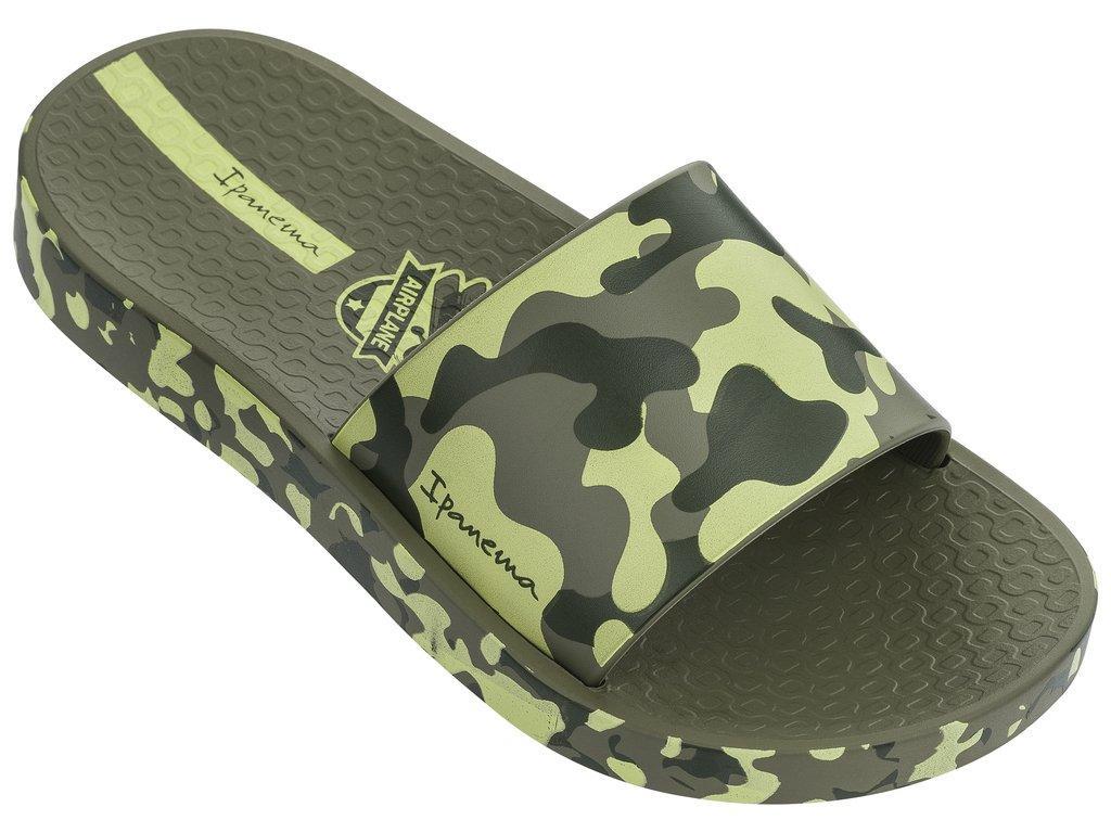 Оригинальные Шлепанцы Для Мальчика 26325-20770 Ipanema Urban Slide Kids slipper green/green 2019