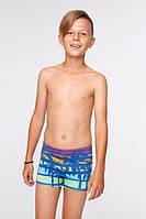 Яркие детские плавки- шорты для мальчиков. Польша. Цвет: Синий. SUNSET