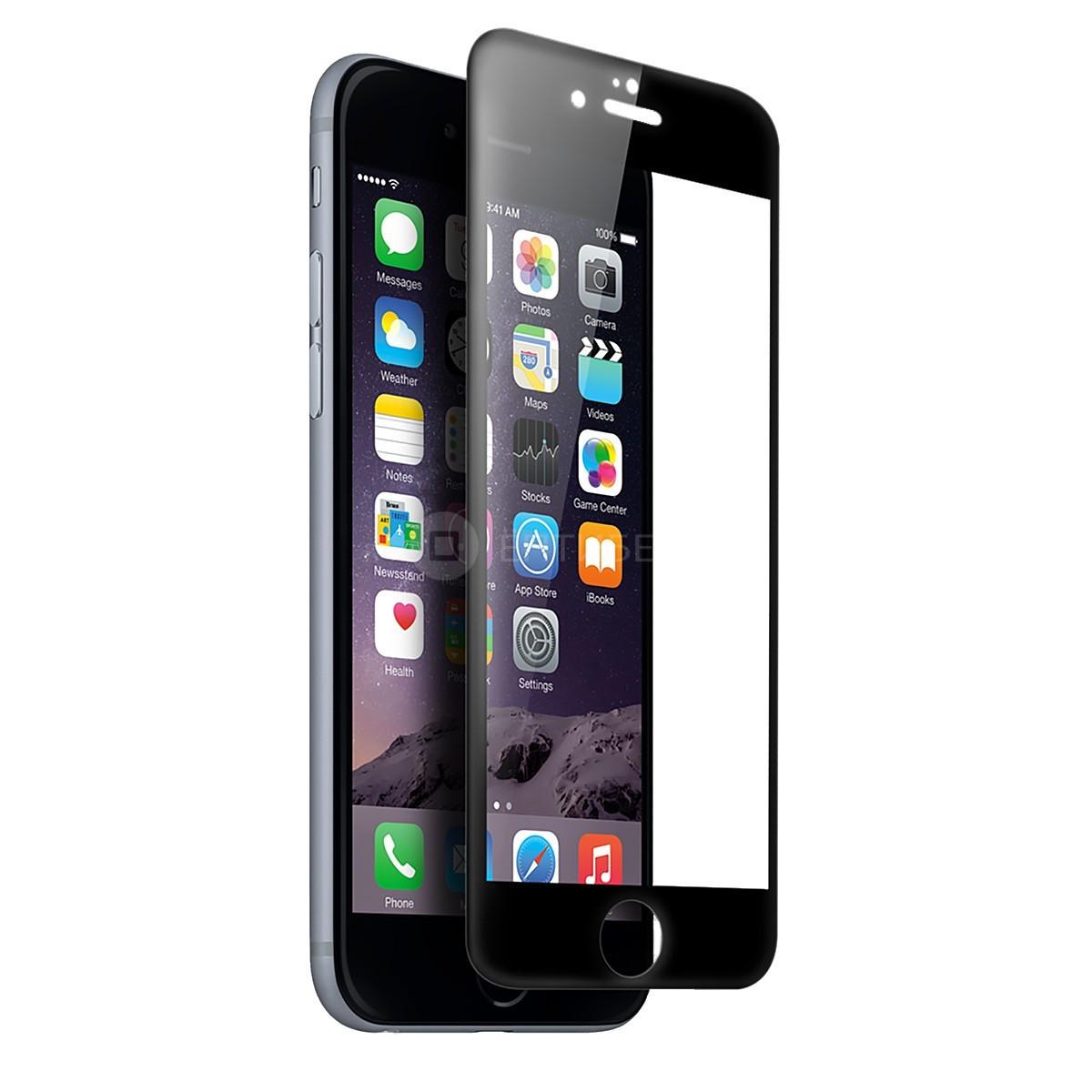 Защитное стекло для iPhone 6+ / 6S+ Черное AG