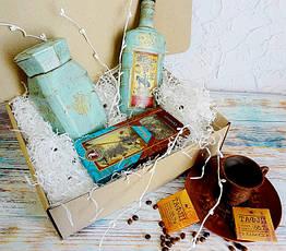 """Подарок для мужчин,подарочный набор """"Бронзовый остров"""" с медовухой и кофе"""