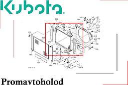 Радиатор Kubota B3000 /// 6C230-58520