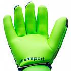 Вратарские перчатки Uhlsport Tension Green Supersoft (101108201) Оригинал, фото 2