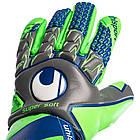 Вратарские перчатки Uhlsport Tension Green Supersoft (101108201) Оригинал, фото 5