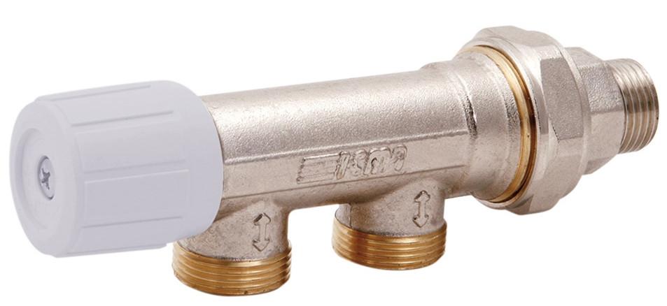 Вентиль однотрубный ручной 1/2 (бок) ICMA 856 (Италия)