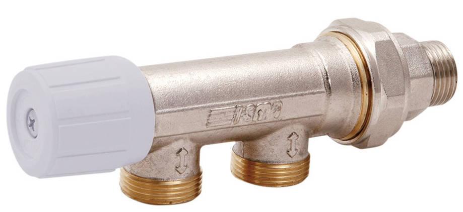 Вентиль однотрубный ручной 1/2 (бок) ICMA 856 (Италия), фото 2