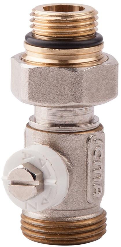Простой вентиль для панельного радиатора со встроенной термостатической группой ICMA 916 (Италия)
