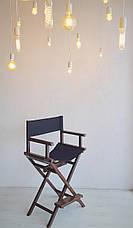 Стул для макияжа, для визажиста. Режиссёрское кресло. Складной деревянный стульчик., фото 2