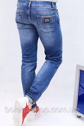 Джинсы мужские Dolce&Gabbana  голубые , фото 2
