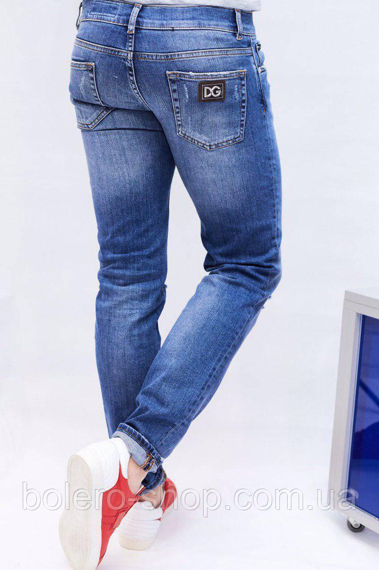 abc691e2b57 Джинсы мужские Dolce Gabbana голубые