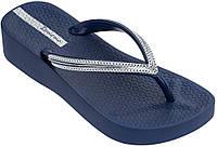Оригинал Вьетнамки Женские 82527-20729 Ipanema Mesh IV Plat woman slipper blue/blue 2019