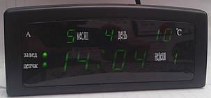 """Сетевые Часы настольные LED 909-А """"календ. терм. буд"""", фото 2"""